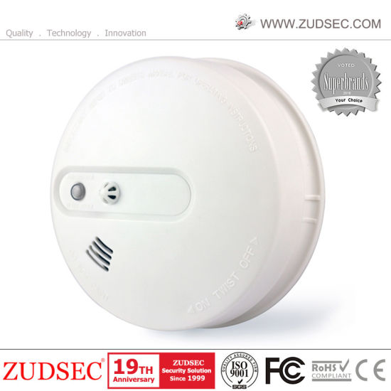 Wireless Connected 9V Battery Smoke Detector Heat Detector