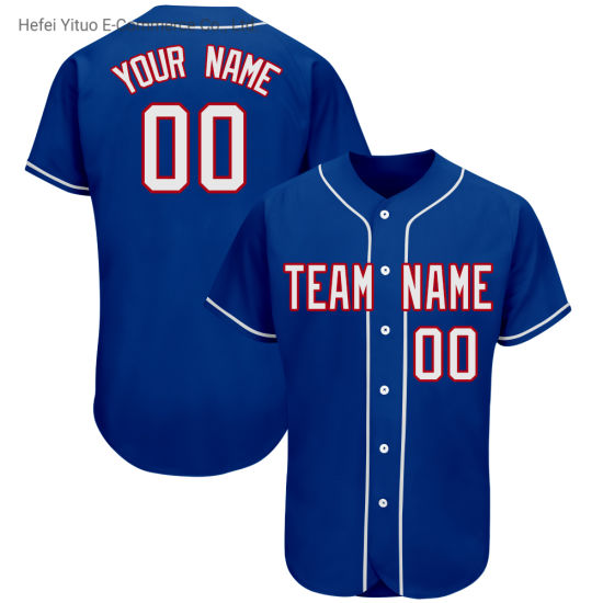 Latest Stitches Knitted Fabrics Quick Dred Baseball Team Cloth for Men Women