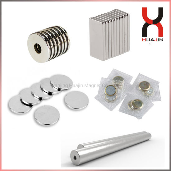 Permanent Sintered Rare Earth Neodymium Magnetic Material Strong Disc/Block/Cylinder/Countersunk/Arc/Segment NdFeB Magnet Rod/Ring/Button/Ball
