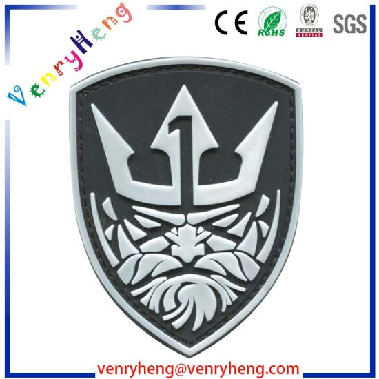 Custom Soft Rubber Label Rubber Embossed Logo Patches