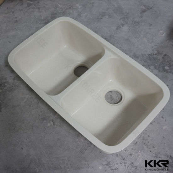 Sanitary Ware Modern White Solid Surface Undermount Kitchen Sinks 191216