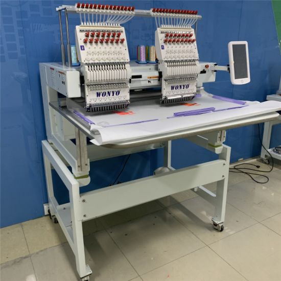 2 Head Industrial Computerized Embroidery Machine