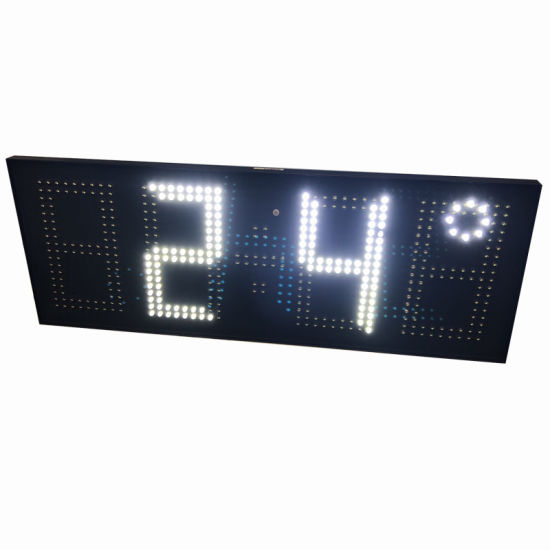 4digits Outdoor White LED Timer and Temperature Clock