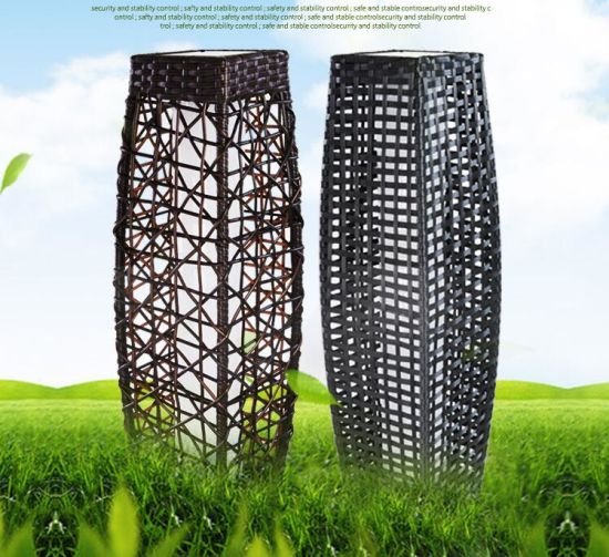Solar Garden Light China: China On Promotion Solar Garden Rattan Lamp Landscape