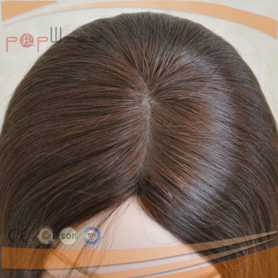 Brazilian Virgin Remy Hair Brown Color Topper Toupee (PPG-l-0931) pictures & photos