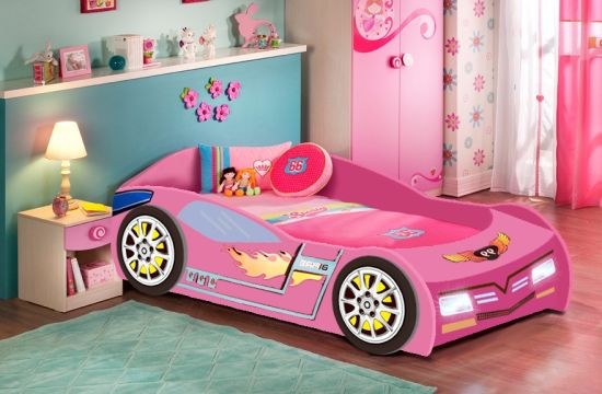 Hot Item New Design Luxury Children Car Bed China Red Kids Race Car Bed Item Nocb 1179