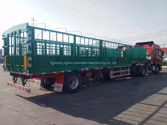 60 Tons Truck Semi-Trailer Load Transportation with Good Quality Axle and Suspension