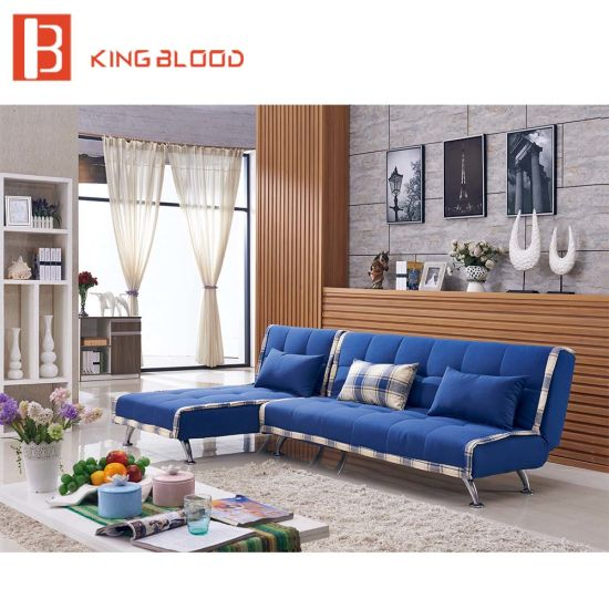 Accessories L Shape Folding Sofa Cum Bunk Bed Design With Stainless Steel  Legs Furniture
