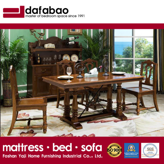 High Quality Home Furniture Solid Wood Long Dining Table (AS835)