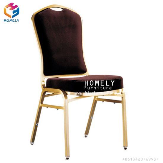 Gold Royal Stacking Aluminum Banquet Wedding Hotel Chair