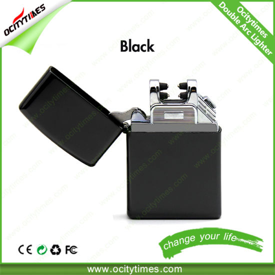 Ocitytimes Fashion Design Rechargeable USB Lighter/Electric Cigarette Lighter/Double Arc Lighter pictures & photos