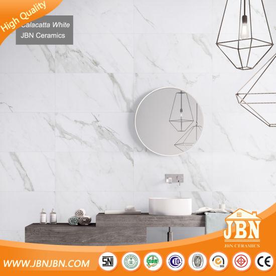1 Tile 4 Faces Soft Polished Calacatta White Wall Floor Porcelain Tiles (JM63787M)