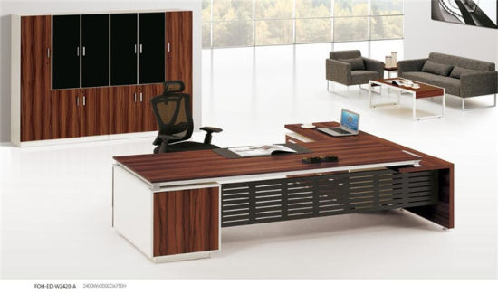 Modern Design Luxury Office Table Executive Desk With Side