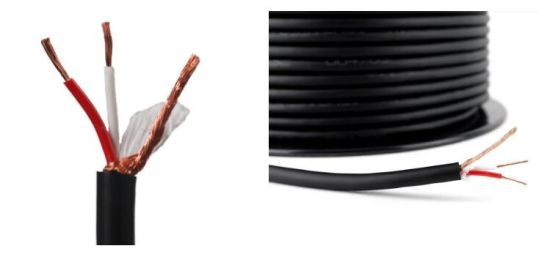 High Quality Double Shielded Bare Copper 2 Cores Microphone Cable pictures & photos