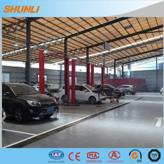 China Shunli Factory Sales5 0t Manual Release Two Post Car Lifts