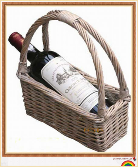 Picnic Willow Food Storage Gift Wine Basket pictures & photos