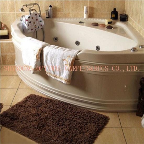Washable Microfiber Chenille Carpet Waterproof Bath Mat