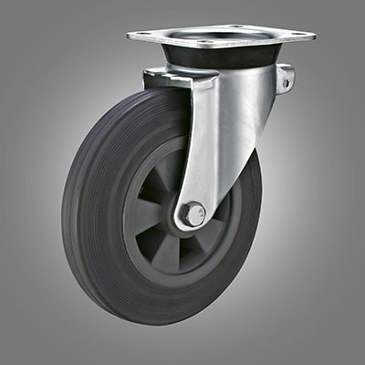 Dustbin Grey Rubber Caster for Storage Cart pictures & photos