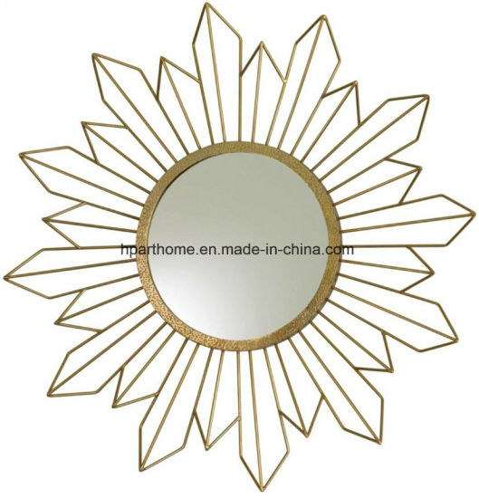 Global Views Radiance Contemporary Gold Sunburst Wall Mirror Decor