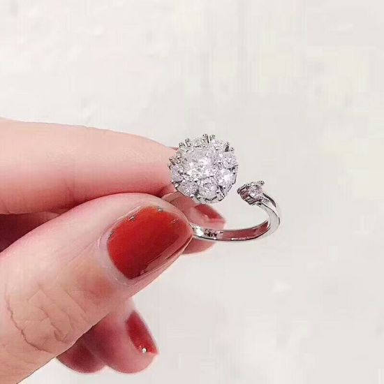 Silver Ring Jewelry Wholesale Latest Design Ladies Rotating Rings