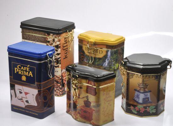 Printing Empty Tin Coffee Box Tea Can