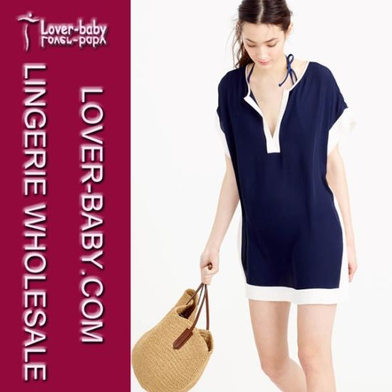 Lady High Quality Beachwear Cover up Tunic Dress (L38334) pictures & photos