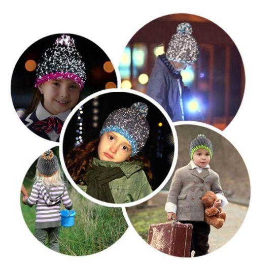 d285dd1526e Hot Sale New Novelty Night Luminescene safety Reflective Hats Funny Winter  Custom Knit Beanies for Adults
