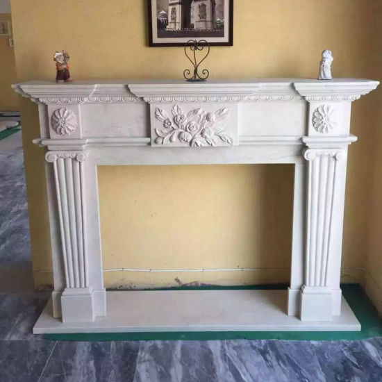 Natural Stone White Marble Fireplace for Indoor & Outdoor pictures & photos
