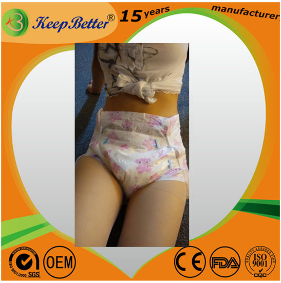 Experienced Factory Manufacturer Adult Abdl Cute Bear Printed Diapers Sale pictures & photos