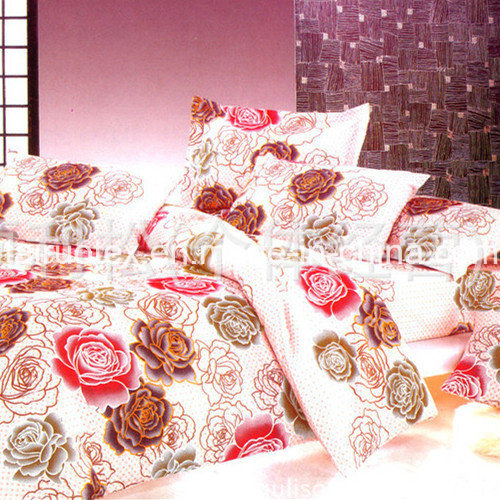 Microfiber Printed Fabric Brushed Polyester Peach Skin for Bedding