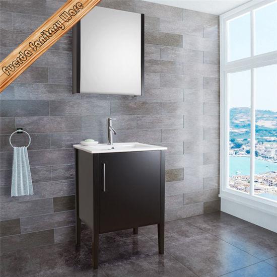 Cherry Color Bathroom Cabinet Vanity