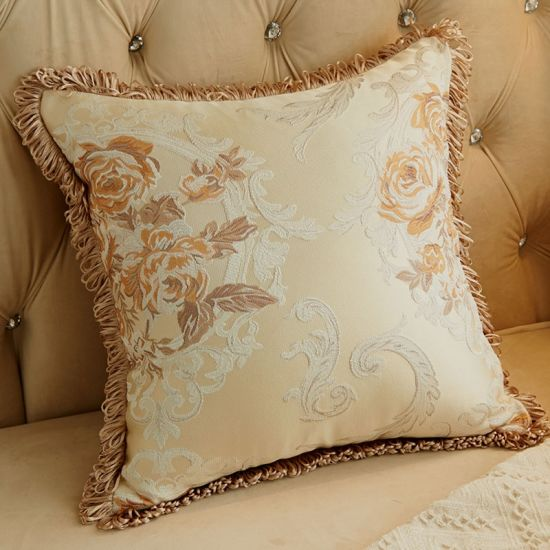 Classic Puff Jacquard Decorative Pillow Cover Cushion Cover Throw Pillow Case pictures & photos