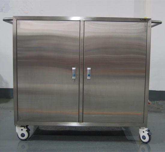 Hot Sale Stainless Steel Medical Storage Cabinet With Wheels Hospital  Facility Trolley