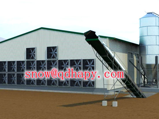 Customized Automatic Poultry Farm Equipment for Broiler Chicken Feeding Line pictures & photos