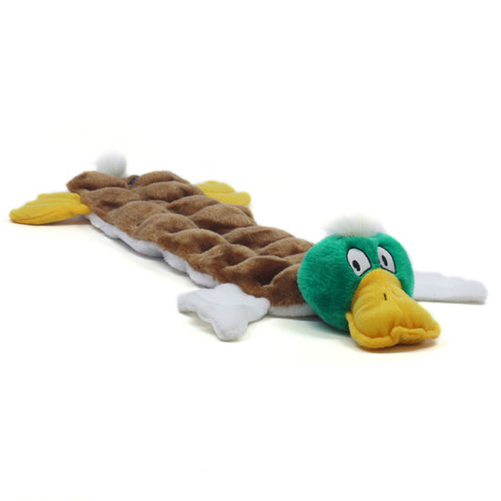 2018 Custom Plush Duck Dog Toys with Squeaker for Dog Playing