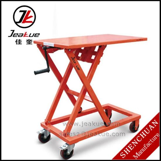 Greman Popular 300/660kg Hand Operated Platform /Lift Table pictures & photos