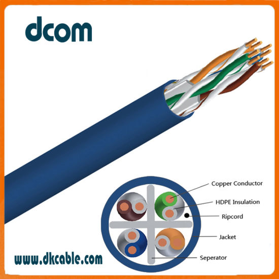 China Internet Cable Wire CAT6 23AWG Cu LAN Cable - China Ethernet ...