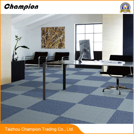 Decorative Tufted Loop Pile PVC Backing PP Thick Carpet Tiles 50X50  Commercial Office,