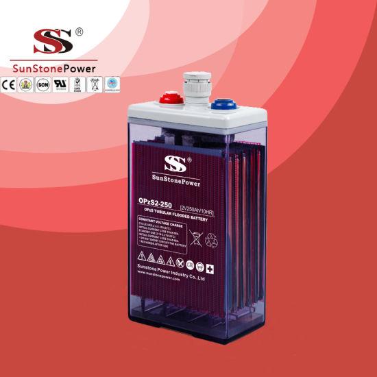 Opzs Lead Acid Flooded Battery Solar Battery 2V 350ah, Deep Cycle Tubular Batteries