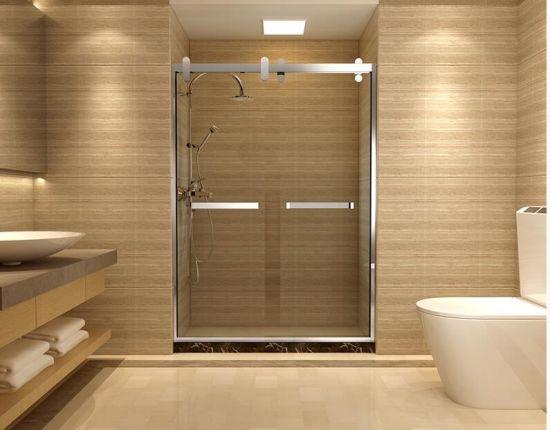 China Stainless Steel Frame Sliding Glass Doors Shower Doors China