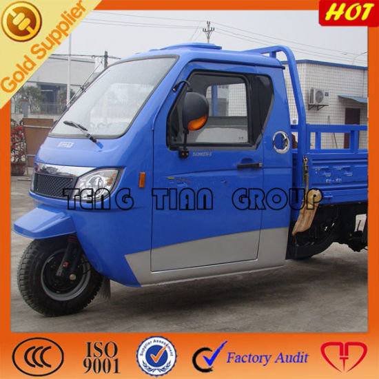 Cabin Three Wheel Motorcycle/Cargo Tricycle with Cabin pictures & photos