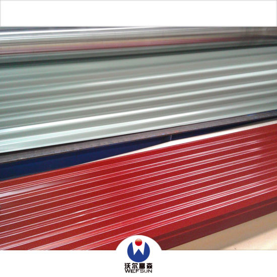 Color Metal Roofing Siding Panel Corrugated Prepainted Galvanized Steel Sheet