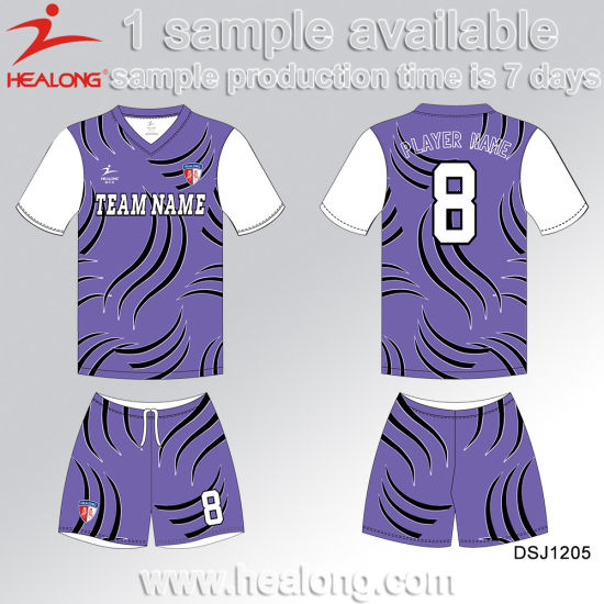 Healong Latest Design Sports Gear Customize Dye Sublimation Junior Soccer Sets pictures & photos