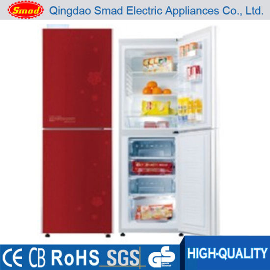 Double Door Red Color Bottom Freezer Combi Fridge/Refrigerator