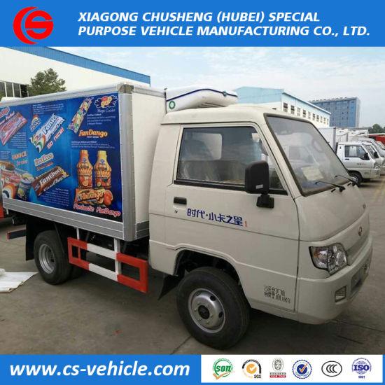 d01b0c26bb China 4 2 Foton Mini Refrigerated Van Trucks Freezer 1.5tons Payload ...