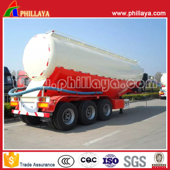 60 Tons Powder Bulker Tanker Semi-Trailer Cement Tank Semi Trailer with Hydraulic Cylinder pictures & photos