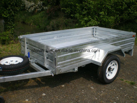 Hot Dipped Galvanized Box Trailer for Sale pictures & photos