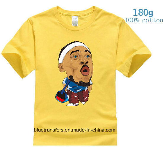 158b81c4c9f Men′s Short Sleeve T-Shirts 180GSM 100% Cotton with Heat Transfer Printing
