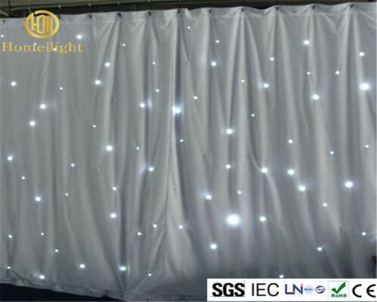 White Light LED Backdrop Wedding Drapery Curtain Star