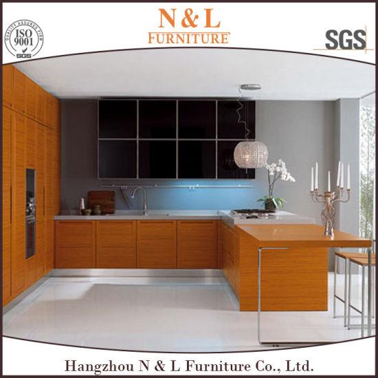 Engineered Wood Veneer Kitchen Cabinet with Blum Hardware  sc 1 st  Hangzhou N u0026 L Furniture Co. Ltd. & China Engineered Wood Veneer Kitchen Cabinet with Blum Hardware ...